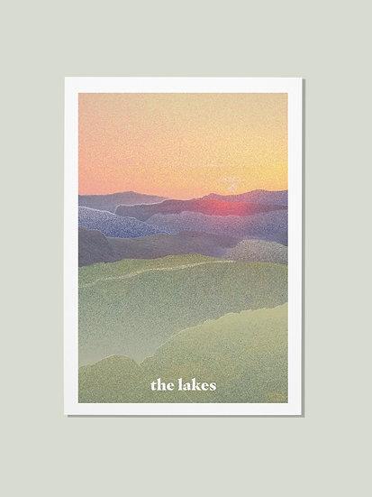 'The Lakes' Lake District Postcard