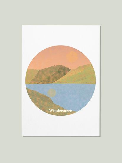 'Windermere' Lake District Postcard