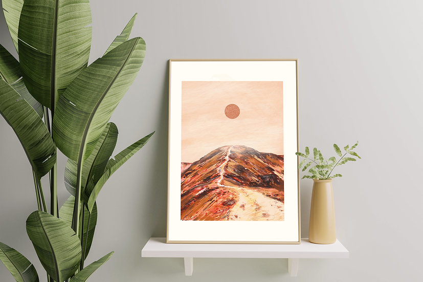 'Crag Hill' Abstract Lake District Print