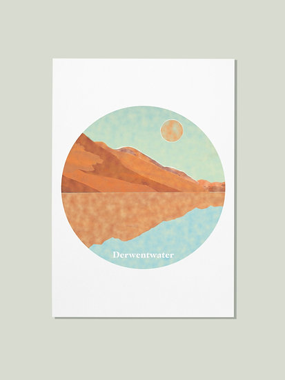 'Derwentwater' Lake District Postcard
