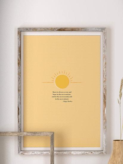 'The Sun' Quote Print