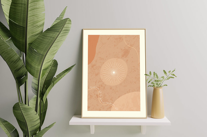 Modern Art 'Vitamin D' Print