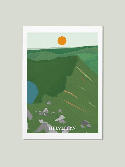 'Helvellyn' Lake District Postcard