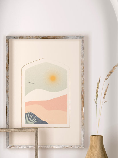 'Sun & Mountains' Print