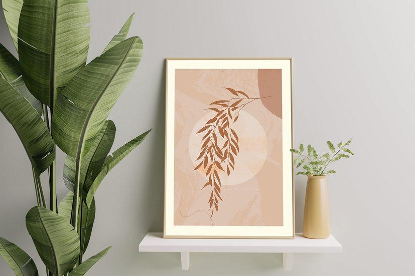 Modern Art 'Willow' Print