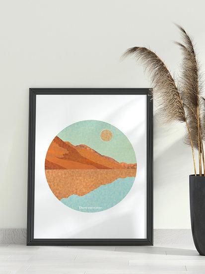 'Derwentwater' Lake District Print