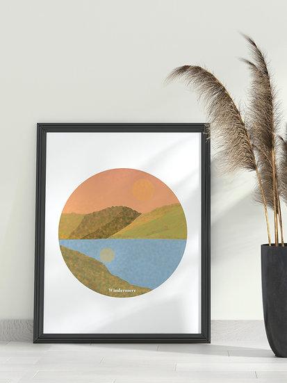 'Windermere' Lake District Print