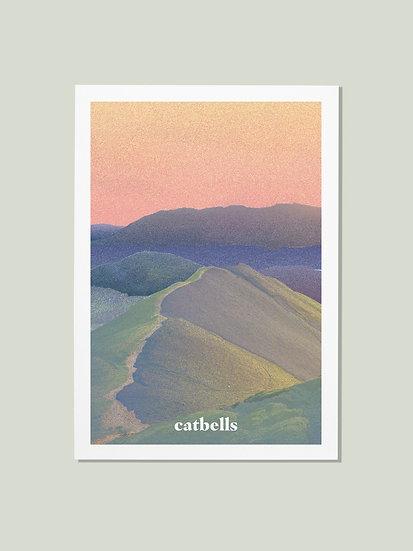 'Catbells' Lake District Postcard