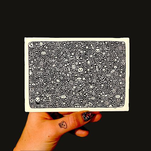 'tears' print