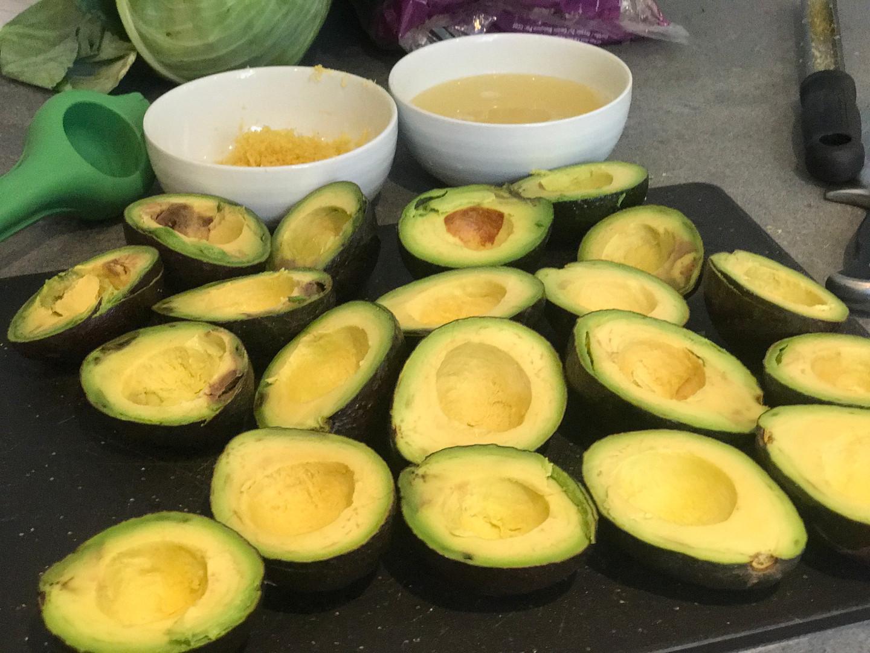 Fresh ripe avocados