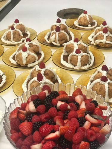 Cream Puffs with Berries & Chantilly Cream
