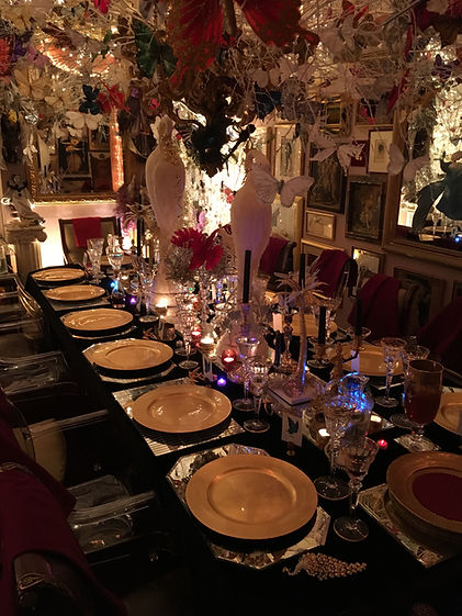 A gorgeous dining table set for a sumptuous feast