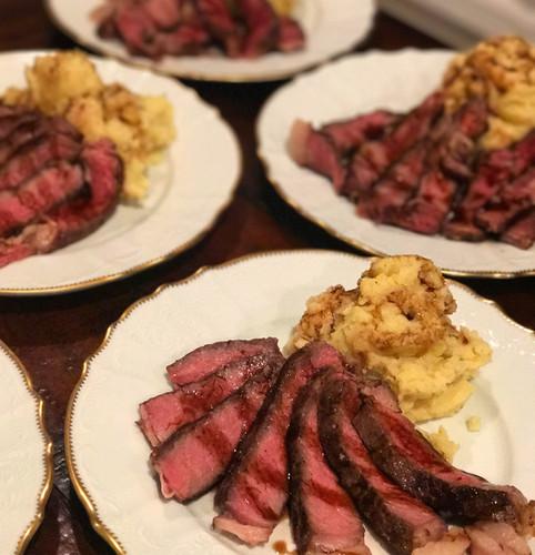 Tagliata Steak with Smashed Potatoes