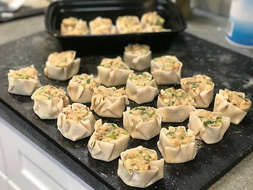 Japanese Shumai ready to be steamed