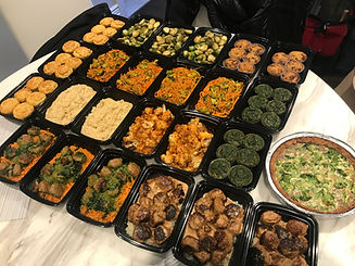 Autoimmune diet meal prep dishes ready to eat