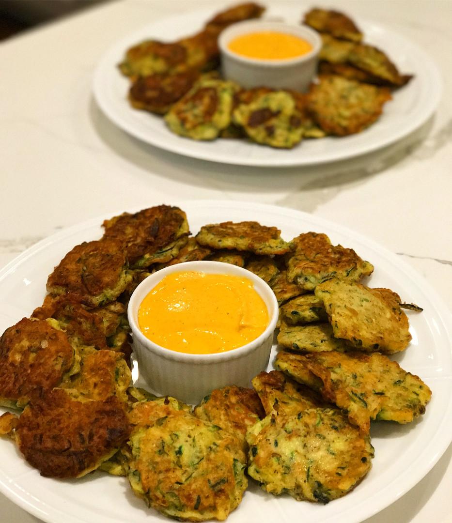 Zucchini Fritters with Golden Saffron Aioli