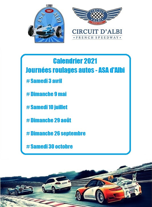 Calendrier Roulages ASA Albi