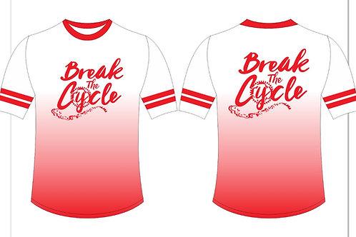 Break The Cycle Shirt w/striped sleeve