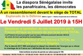 Scandale du pétrole: Les sénégalais de Lyon ne se mouillent pas.