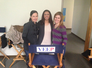With Robin Zerbe and Tonya Davis on Veep