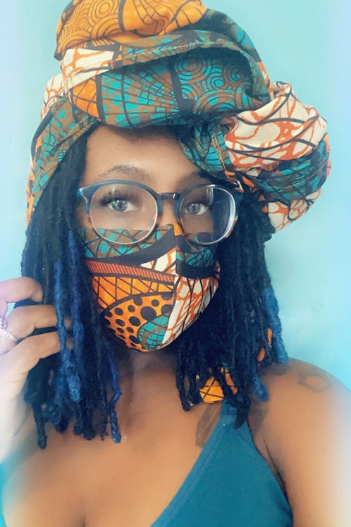 Reversable African Print Masks