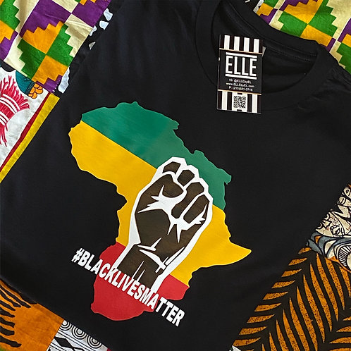 Africa with fist  #BLM