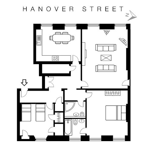21 Hanover bathroom