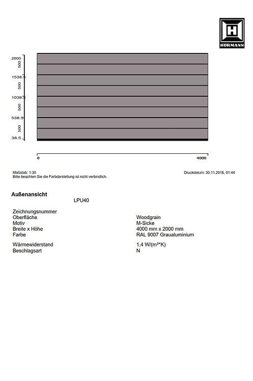 Hörmann Sektionaltor LPU40  4000 x 2000 mm