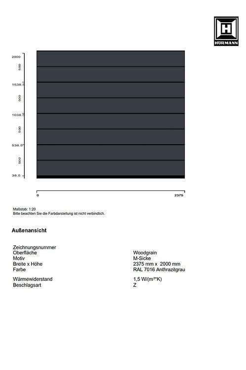 Hörmann Sektionaltor Renomatic 2017 2375 x 2000 mm