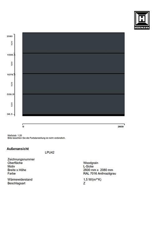 Hörmann Sektionaltor LPU42 2600 x 2080 mm