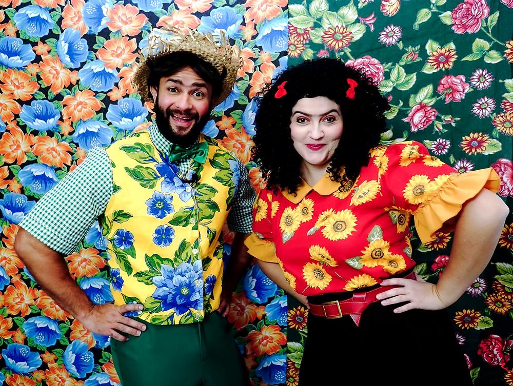 Quinzé e Maricota em reunião temática junina Foto: Mauro Marques @ofotorista