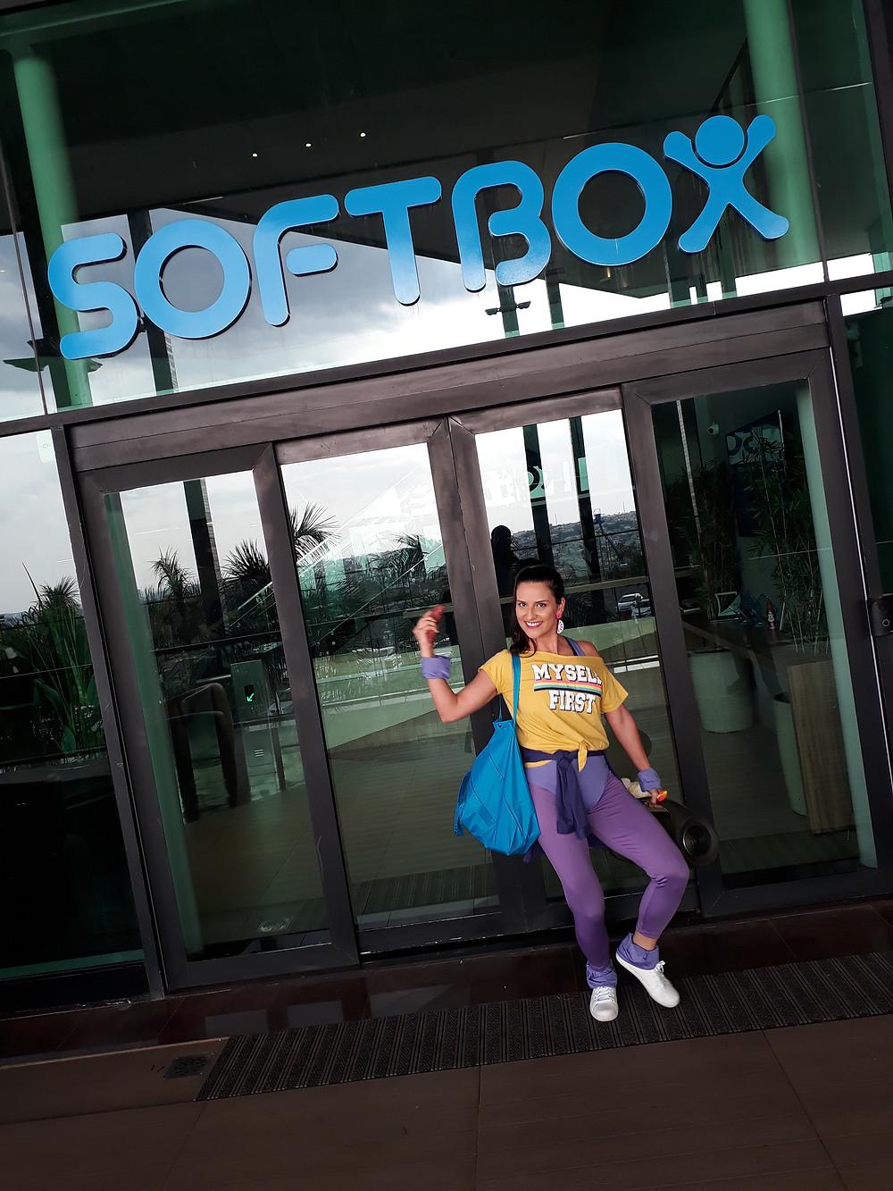Ação no pique fitness para a Softbox / Luiza Labs