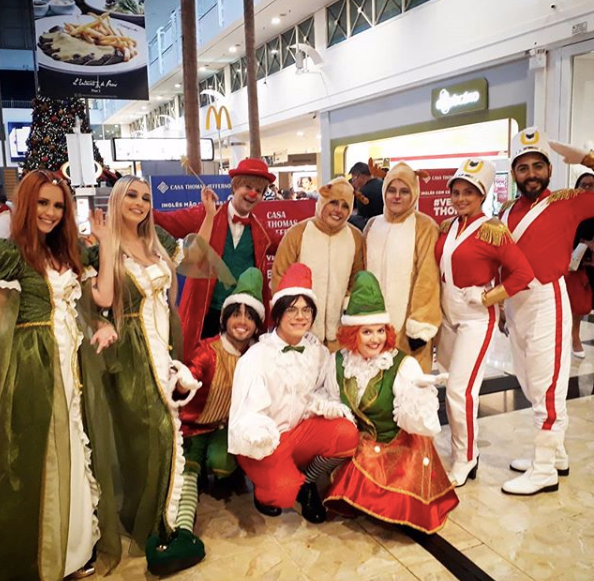 Cortejo de Natal criado exclusivamente para o Center Shopping Uberlândia.