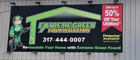 Extreme Green Building Sign