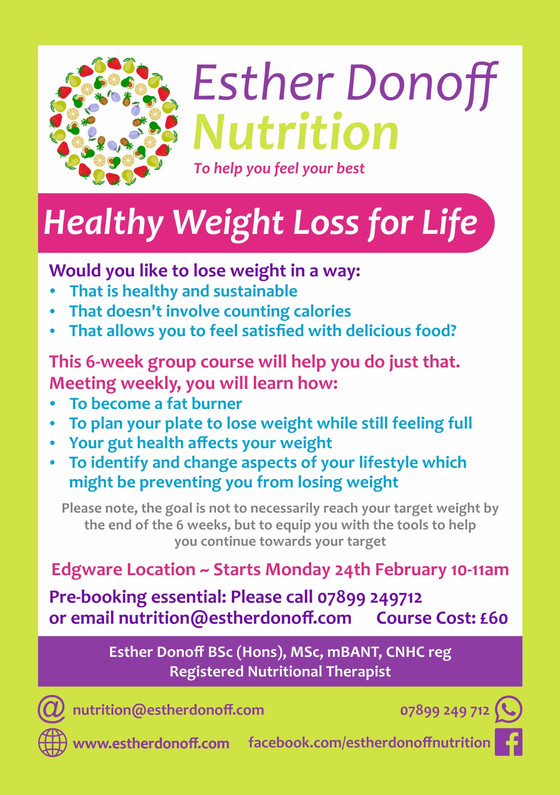 NEW Group weight loss course starting in February