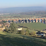 Pic of cement train on Whalley Viaduct.j