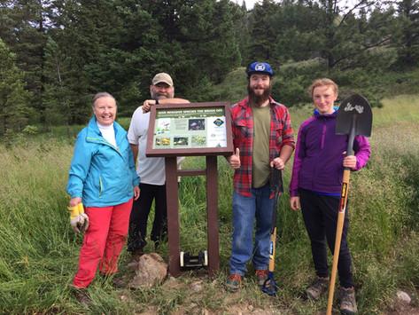 Cranbrook Community forest Sign installation