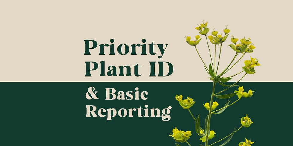 Priority Plant ID + Reporting Webinar
