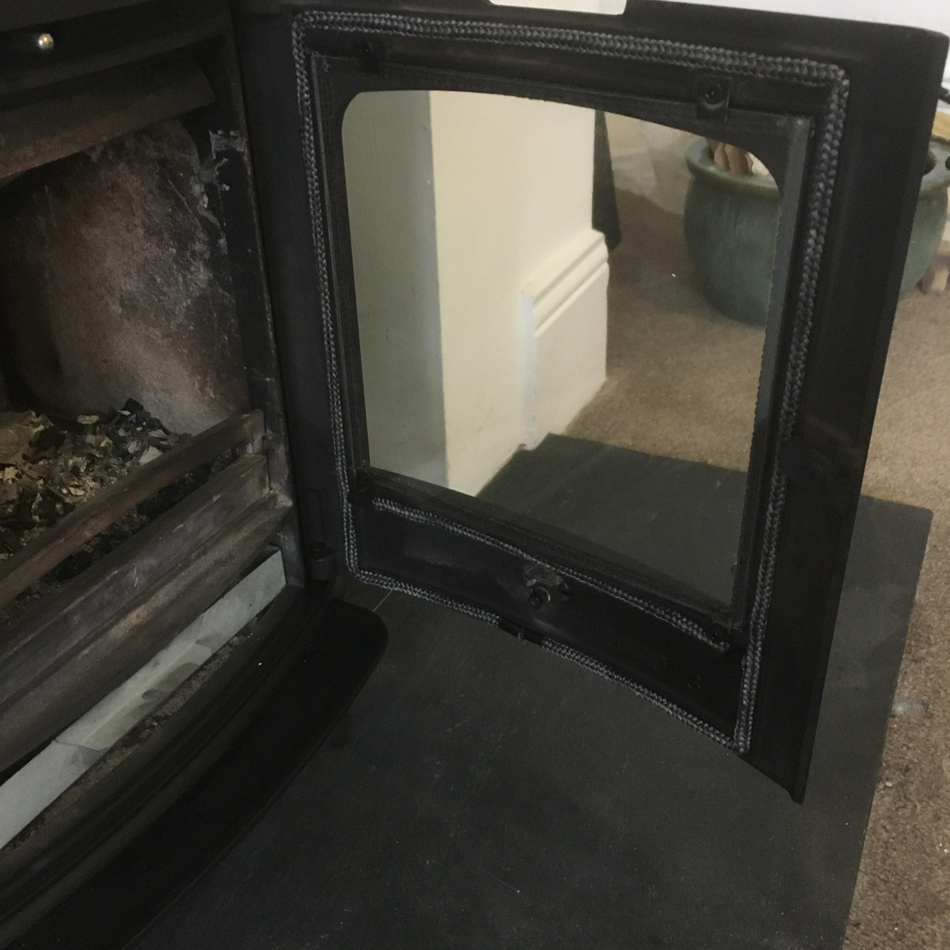 Stove Door Glass inc Installation
