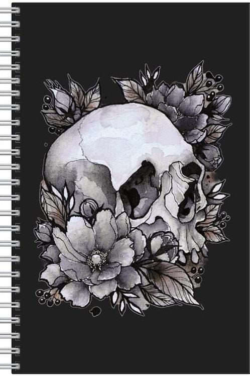Custom Bonnie Blue Flower and Skull Craft Notebook