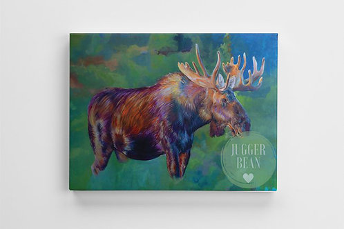 Custom moose design created by BC artists Amie Easton