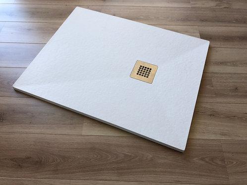 Piatto doccia simil pietra bianco CM 80X140