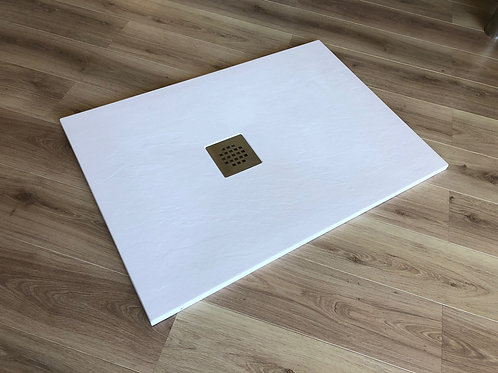 Piatto doccia gelcot simil pietra bianco CM 90x120