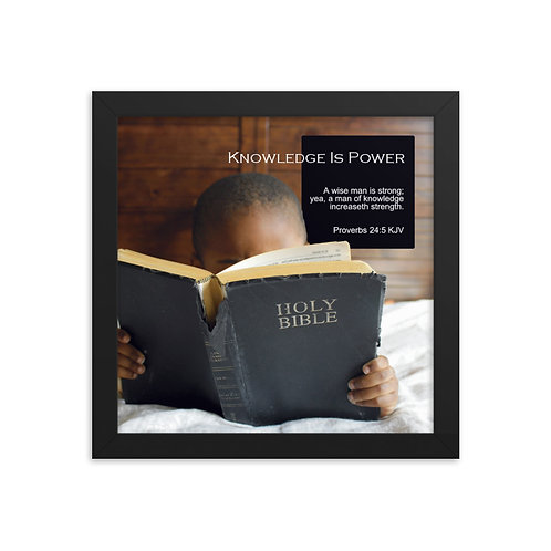 Whispers Of WISDOMS | No.035 | Knowledge Is Power - gallery framed prints