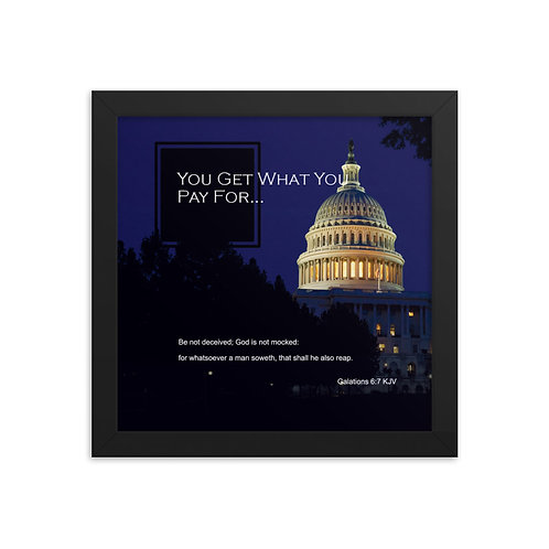 Whispers Of WISDOMS | No.030 | You Get What You Pay For - gallery framed prints