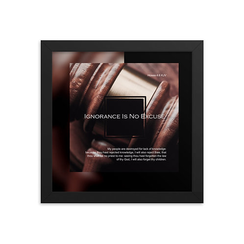 Whispers Of WISDOMS | No.037 | Ignorance Is No Excuse - gallery framed prints