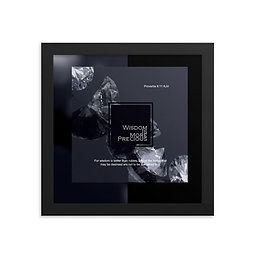 Whispers Of WISDOMS   No.001   Wisdom Is More Precious - gallery framed prints