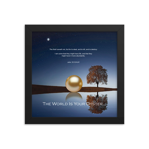 Whispers Of WISDOMS | No.072 | The World Is Your Oyster - gallery framed prints