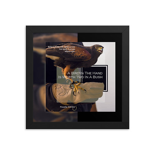 Whispers Of WISDOMS   No.031   A Bird In The Hand Is Worth Two... - prints