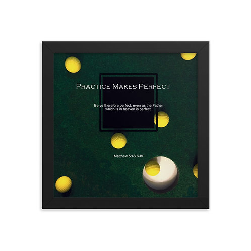 Whispers Of WISDOMS | No.003 | Practice Makes Perfect - gallery framed prints